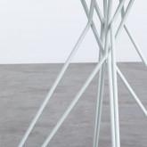 Mesa de Comedor Redonda en MDF y Metal (Ø80 cm) Buk, imagen miniatura 4