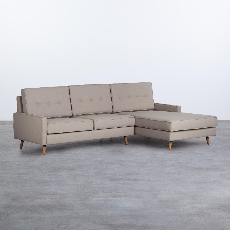 Sofá Chaise Longue Derecha 4 Plazas en Tela Abuba, imagen de galería 1