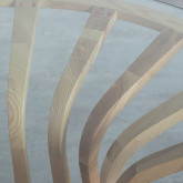 Mesa de Comedor Redonda en Madera y Cristal (Ø120 cm) Roxet, imagen miniatura 5