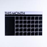 Pizarra De Vinilo Adhesivo Calendar Con 5 Tizas, imagen miniatura 1