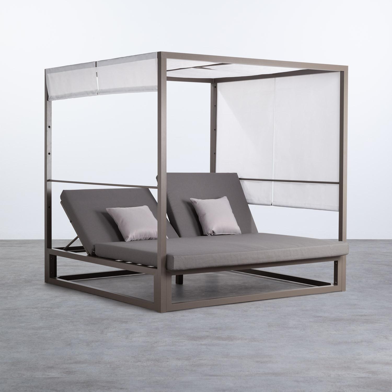 Cama Balinesa Reclinable de Tela y Aluminio Bora, imagen de galería 1