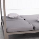 Cama Balinesa Reclinable de Tela y Aluminio Bora, imagen miniatura 6