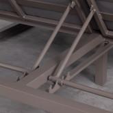 Cama Balinesa Reclinable de Tela y Aluminio Bora, imagen miniatura 8