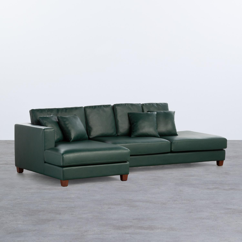 Sofá Chaise Longue Izquierda 4 Plazas en Polipiel Kesha, imagen de galería 1