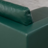 Sofá Chaise Longue Izquierda 4 Plazas en Polipiel Kesha, imagen miniatura 5