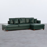 Sofá Chaise Longue Derecha 4 Plazas en Polipiel Kesha, imagen miniatura 1