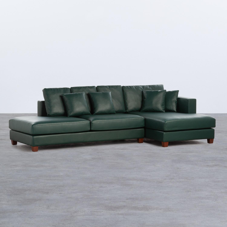 Sofá Chaise Longue Derecha 4 Plazas en Polipiel Kesha, imagen de galería 1