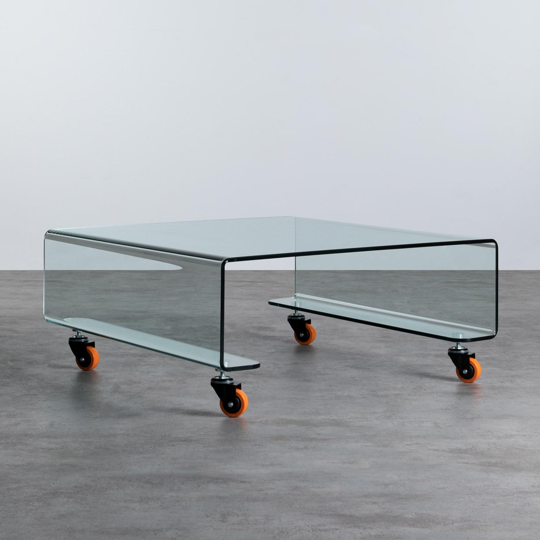 Mesa de Centro Cuadrada en Cristal (100x100 cm) Rolcris, imagen de galería 1
