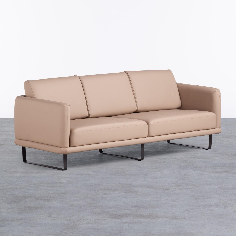 Sofá de 3 Plazas en Polipiel Descui, imagen de galería 1