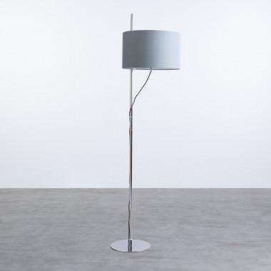 Lámpara de Pie en Tela y Metal Lipa