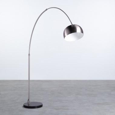 Lámpara de Pie en Acero y Mármol Gancio