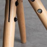 Silla de Comedor en Policarbonato y Madera Hardwood Stella Transparente, imagen miniatura 6