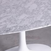 Mesa de Comedor Ovalada en Mármol y Fibra de Vidrio (199x120 cm) Freya , imagen miniatura 4