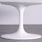 Mesa de Comedor Ovalada en Mármol y Aluminio (160x100 cm) Uva Freya, imagen miniatura 5