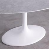 Mesa de Comedor Ovalada en Mármol y Aluminio (160x100 cm) Uva Freya, imagen miniatura 6