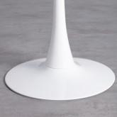 Mesa de Comedor Redonda en MDF y Metal (Ø100 cm) Chess, imagen miniatura 4