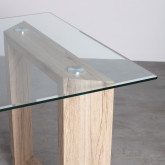 Mesa de Comedor Rectangular en MDF y Cristal (160x90 cm) Vetro, imagen miniatura 4