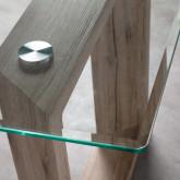 Mesa de Comedor Rectangular en MDF y Cristal (160x90 cm) Vetro, imagen miniatura 5