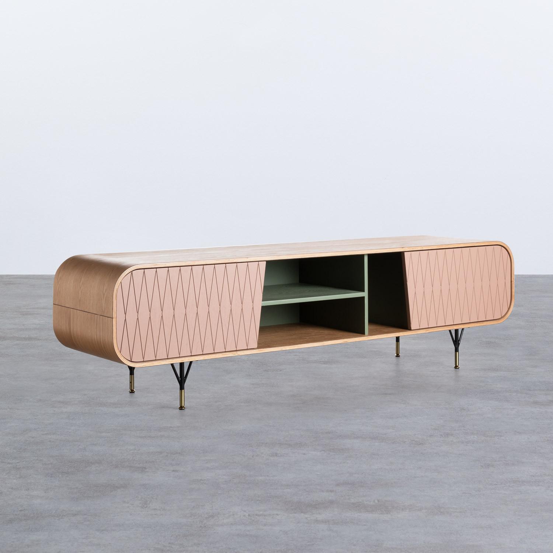 Mueble de TV en MDF dos puertas Amer, imagen de galería 1
