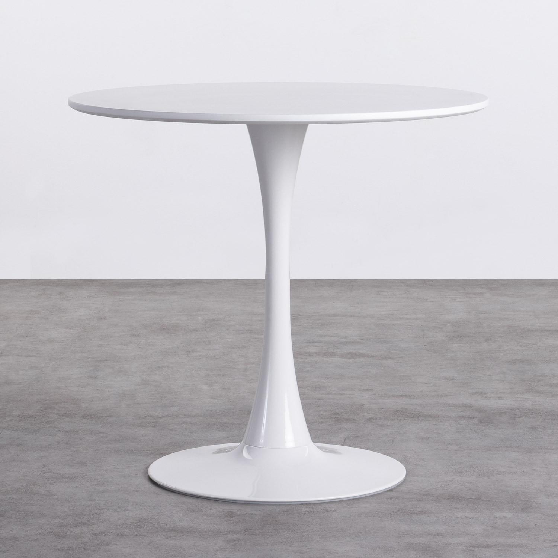 Mesa de Comedor Redonda en MDF y Fibra de vidrio ( Ø80 cm) Chess Edition, imagen de galería 1