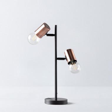 Lámpara de Mesa en Hierro Saxo