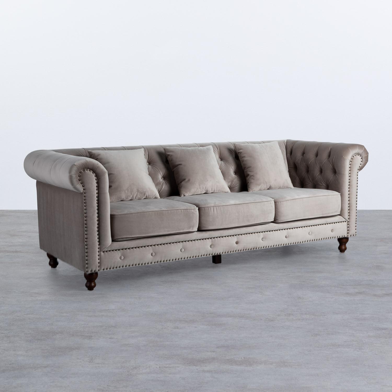 Sofá de 3 Plazas en Terciopelo Velluto, imagen de galería 1