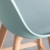 Tabouret haut en polypropylène et Tissu Fine Freya Fabric (65cm) , image miniature 5
