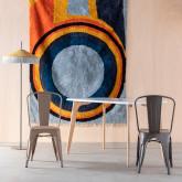 Chaise de Salle à manger en Acier Industriel Frosted, image miniature 2