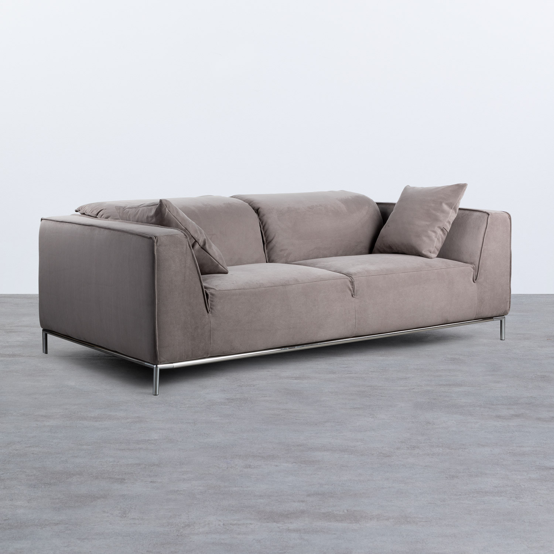 Canapé de 3 places en Nobuck Rochi, image de la gelerie 1