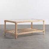 Table Basse Rectangulaire en Rotin Naturel (110x60 cm) Klaipe, image miniature 1