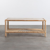 Table Basse Rectangulaire en Rotin Naturel (110x60 cm) Klaipe, image miniature 3