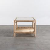 Table Basse Rectangulaire en Rotin Naturel (110x60 cm) Klaipe, image miniature 4