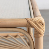 Table Basse Rectangulaire en Rotin Naturel (110x60 cm) Klaipe, image miniature 6