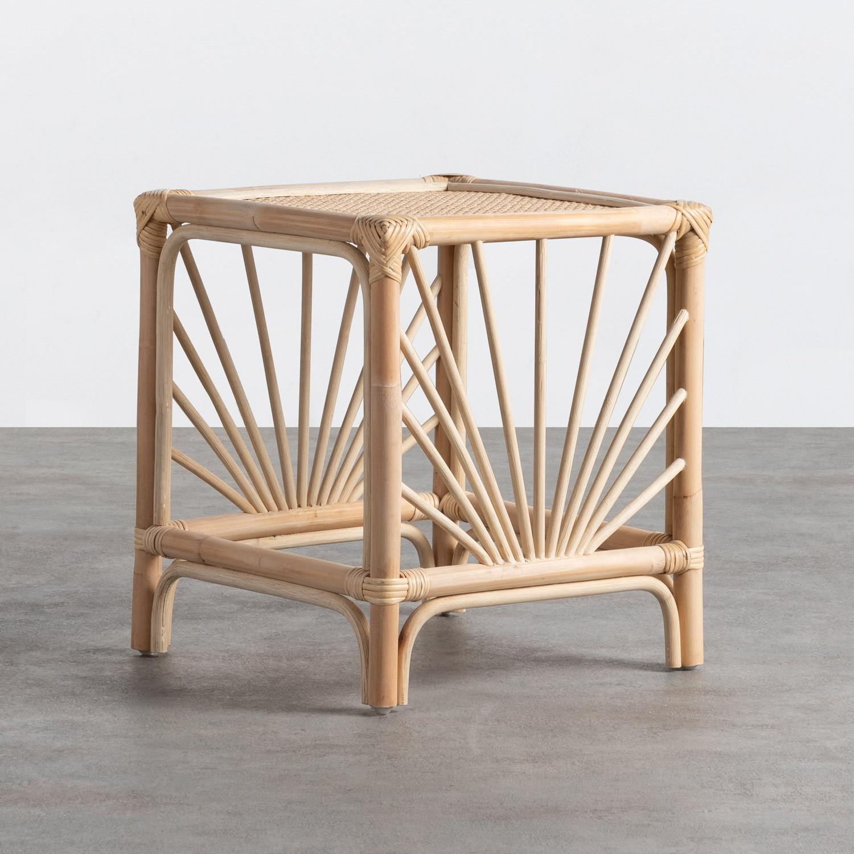 Table d'Appoint Carrée en Rotin Naturel (40x40 cm) Klaipe, image de la gelerie 1