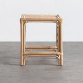 Table d'Appoint Carrée en Rotin Naturel (40x40 cm) Klaipe, image miniature 3