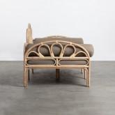 Canapé-lounge 3 places en Rotin Naturel et Tissu Evans, image miniature 3