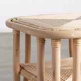 Table d'Appoint Carrée en Rotin Naturel (40x40 cm) Kida, image miniature 4