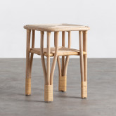 Table d'Appoint Carrée en Rotin Naturel (40x40 cm) Kida, image miniature 1