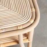 Table d'Appoint Carrée en Rotin Naturel (40x40 cm) Kida, image miniature 5