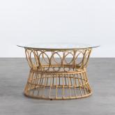Table Basse Ronde en Rotin Synthétique (Ø76 cm) Noli, image miniature 1