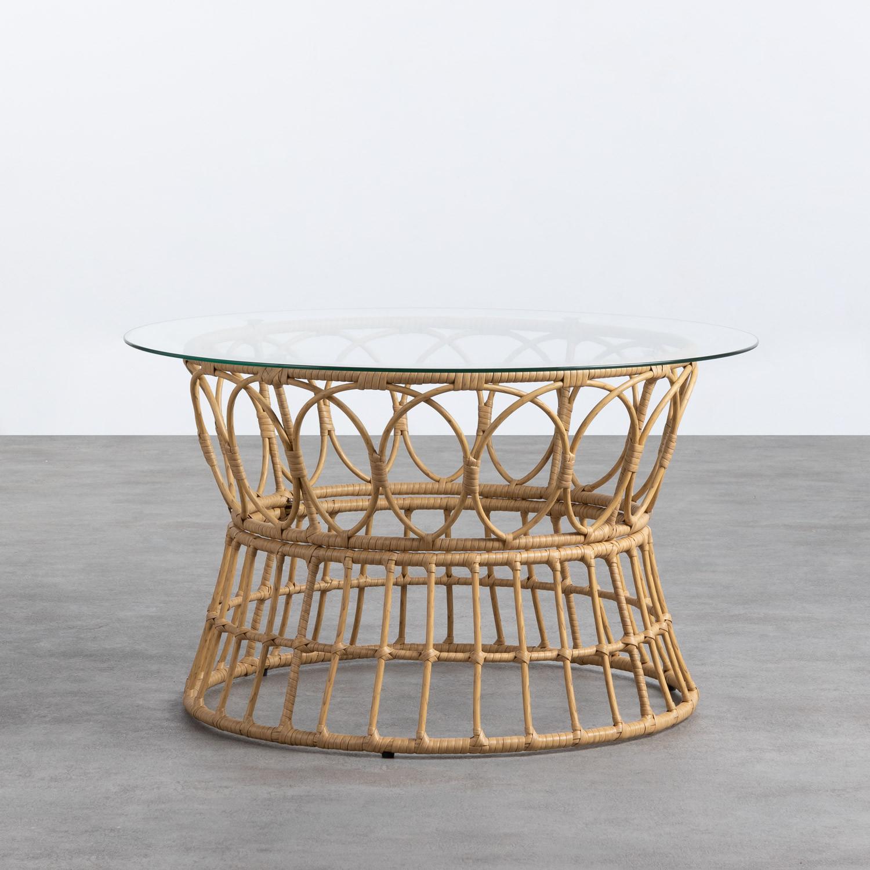 Table Basse Ronde en Rotin Synthétique (Ø76 cm) Noli, image de la gelerie 1