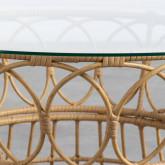 Table Basse Ronde en Rotin Synthétique (Ø76 cm) Noli, image miniature 3