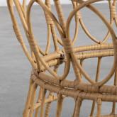 Table Basse Ronde en Rotin Synthétique (Ø76 cm) Noli, image miniature 4