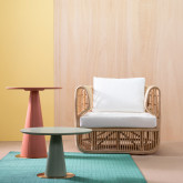 Table d'Appoint Ronde en MDF et Acier (50-60 cm) Era, image miniature 2