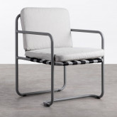 Chaise d'Extérieur en Aluminium et Tissu Paradise, image miniature 1