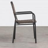 Chaise d'Extérieur avec accoudoirs en Aluminium et Tissu Alorn, image miniature 3