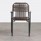 Chaise d'Extérieur avec accoudoirs en Aluminium et Tissu Alorn, image miniature 4
