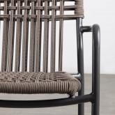 Chaise d'Extérieur avec accoudoirs en Aluminium et Tissu Alorn, image miniature 6