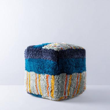 Pouf Carré en Polyester MITER