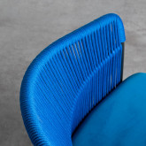 Chaise de Salle à manger en Velours et Corde Kila, image miniature 7